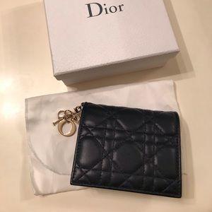 Authentic Lady Dior Medium Card Wallet